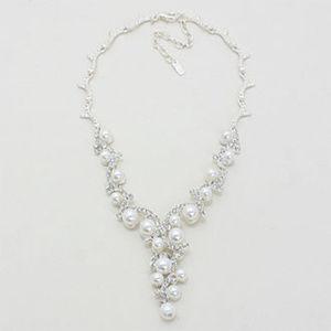 Pearl Vine Bridal Necklace Earrings